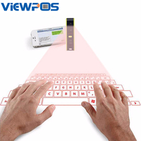 QWERTY Virtual Laser Keyboards KB320 Portable for Gaming iPad iPhone Samsung Tablet Mac Mini Wireless Bluetooth Keyboard USB
