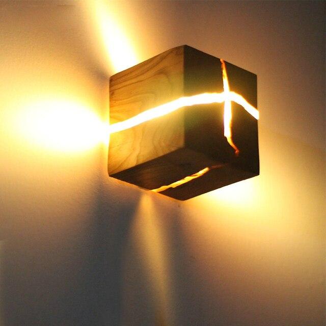 유럽 스타일 아트 장식 LED 벽 램프 침실 머리맡 통로 실내 홈 전등 G4 나무 벽 램프 거실