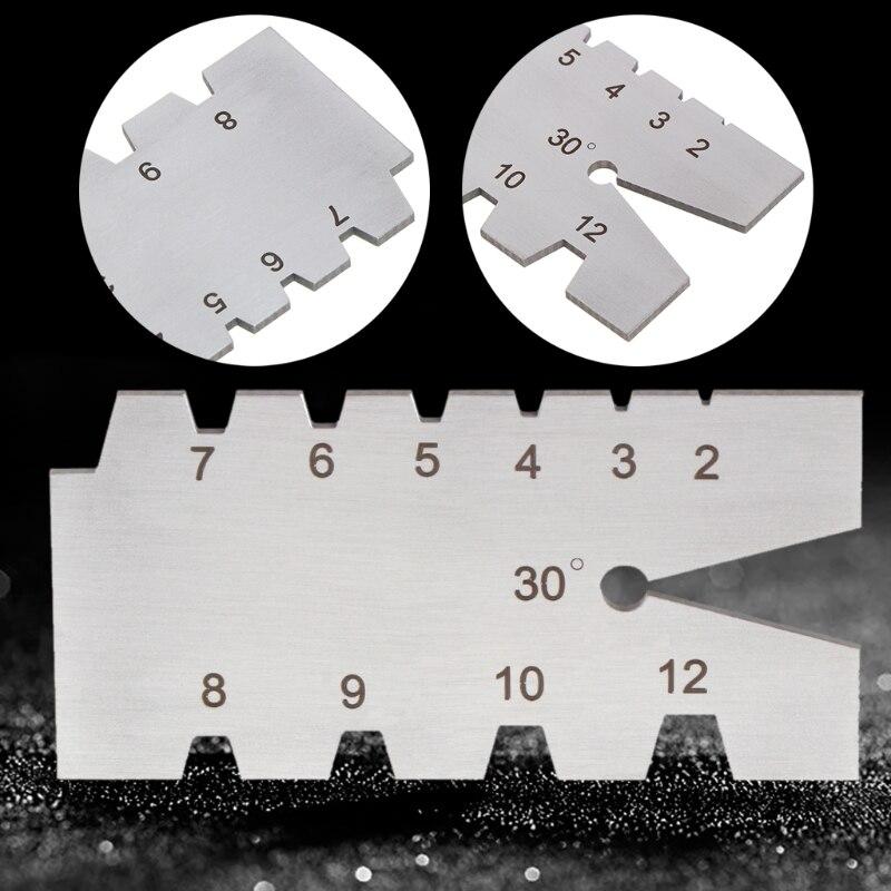 OOTDTY TR30 Degree Screw Thread Gauge Gage Tool Grinding Stainless Steel Welding Feeler