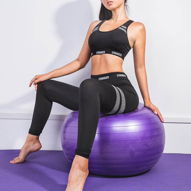 2Pcs Seamless Fitness Yoga Set with Sports Bra and Leggings