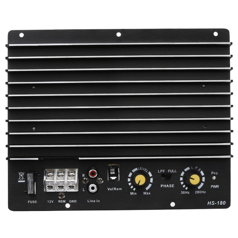 VODOOL 12V Auto Audio Amplifier Power Subwoofer Sound Amplifier Board 100W 150W Car Stereo Audio Subwoofer Power Amplifier Board 150w pure tone bass amplifier board high power 12v toshiba 8 12 inch subwoofer core tube vehicle
