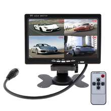 7 Inch 4 Split Quad Video Displays + Automatic Identify Input Signal TFT LCD Car Monitor with Stand-alone Headrest for Cars m104gnx1 r1 lcd displays