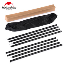 Brand 2pcs set total 4meters length Camping Awning Pole Awning Rod Tent Poles Canopy Tent Building Sun Shelter pole