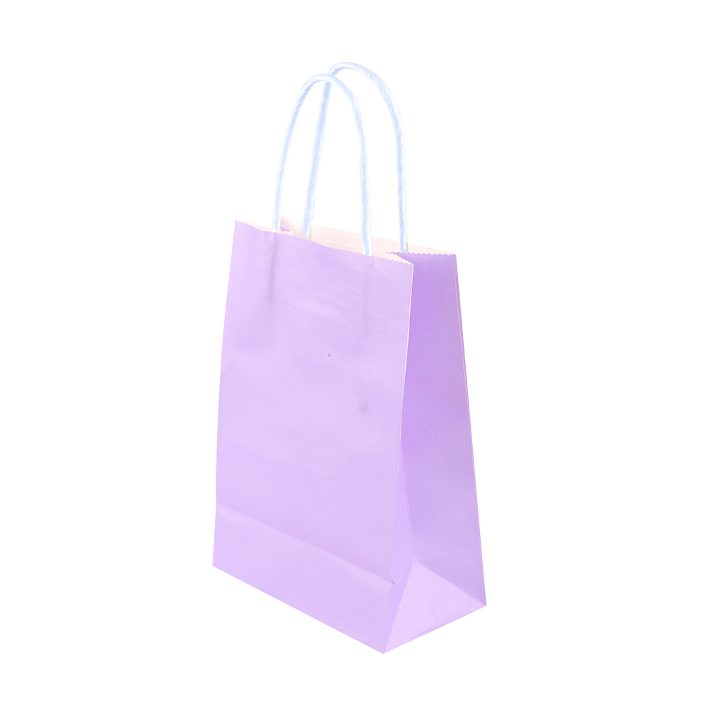 1 Pc Party Bags Kraft Paper Gift Bag With Handles