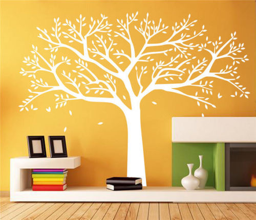 White Tree Wall Decal For Nursery Vinyl Wall Sicker