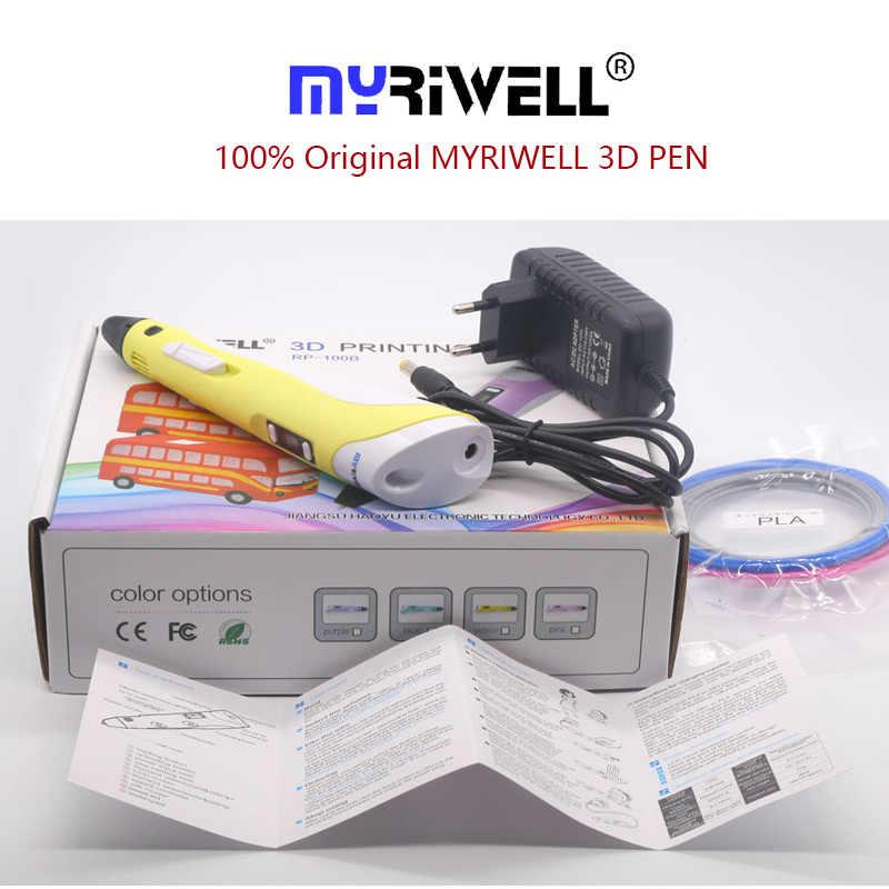 Pena Myriwell 3D Pena 3 D Pena Termasuk PLA 200 M 3d Printer Pena Anak-anak Menggambar Alat Magic Pen hadiah Terbaik Hadiah Natal