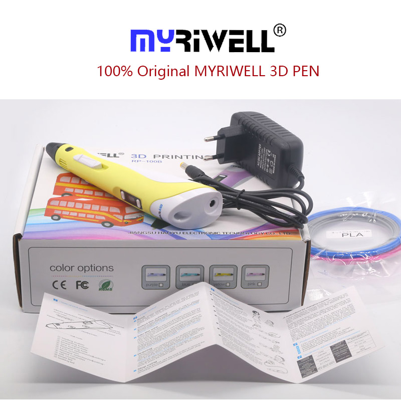 myriwell 3d pen 3 d pen include PLA 200m 3d printer pen the kids Drawing Tool magic pen the best gift Christmas presents in 3D Pens from Computer Office