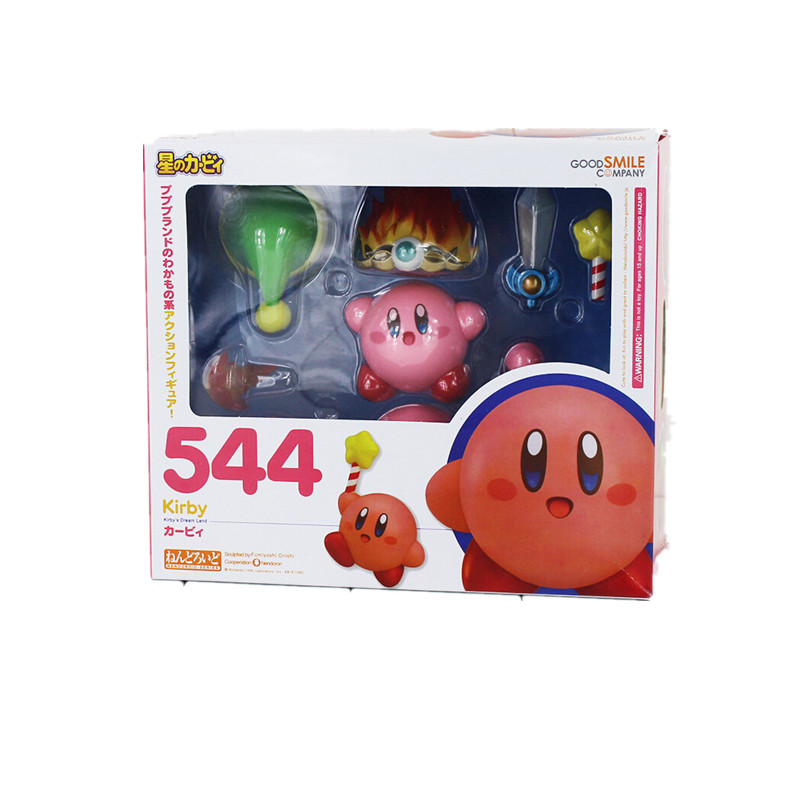 Cute Anime Nendoroid Dream Land Popopo Kirby 544# PVC Action Figure Collection Model Toy for Kids