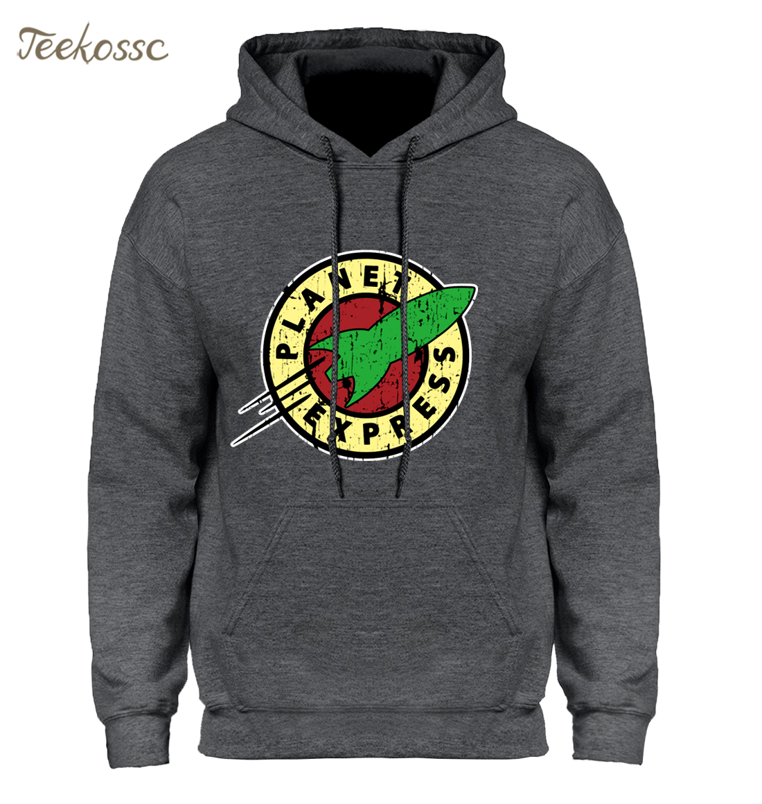 Planet Express Hoodie Men Cartoon Hooded Sweatshirt Cool Hoodies Sweatshirt Men 2019 Winter Spring Fleece Hipster Streetwear