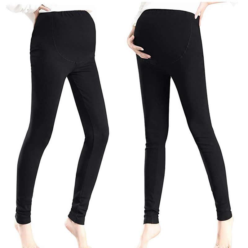 ee972fc27 2018 algodón de vientre Leggings de maternidad Plus tamaño mujeres  embarazadas Yoga Fitness pantalones embarazo ropa de entrenamiento ropa de  ajustar ...