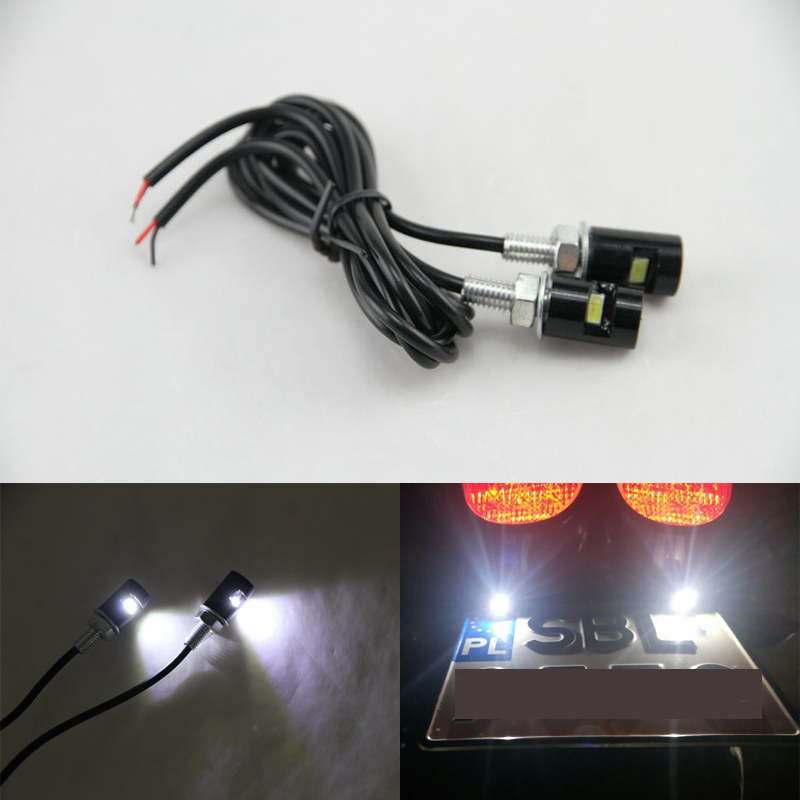 200 Paires 12 v Led License Plate Vis Bolt Light Pour Auto Auto Moto Queue Nombre de Plaque D'immatriculation Via DHL