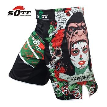 Verde SUAVE a Besta mma treinamento de combate de boxe respirável calções desportivos calções Tiger muay thai calças calções de boxe pretorian boxeo mma