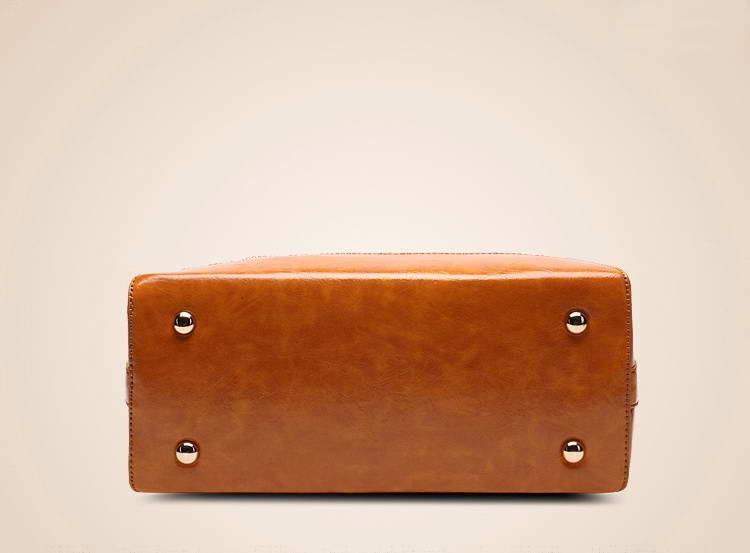 Women Oil Wax Leather Designer Handbags High Quality Shoulder Bags Ladies Handbags Fashion brand PU leather women bags WLHB1398 16
