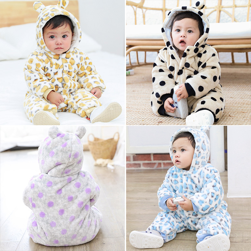 Newborn Baby Girl Clothes Winter Snow Wear Snowsuit Plus Velvet Thicker Bodysuit Warm Romper Jumpsuits Coat Buy One Get One Free Boys' Baby Clothing
