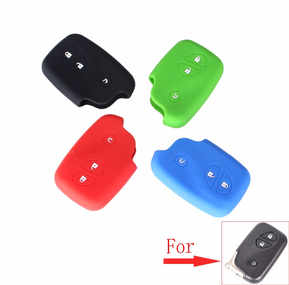 KEYYOU 3 Buttons Silicone Key Cover For <font><b>Lexus</b></font> ES240 ES350 RX270 <font><b>RX350</b></font> LX570 GX400 GX460 Car Key Case image
