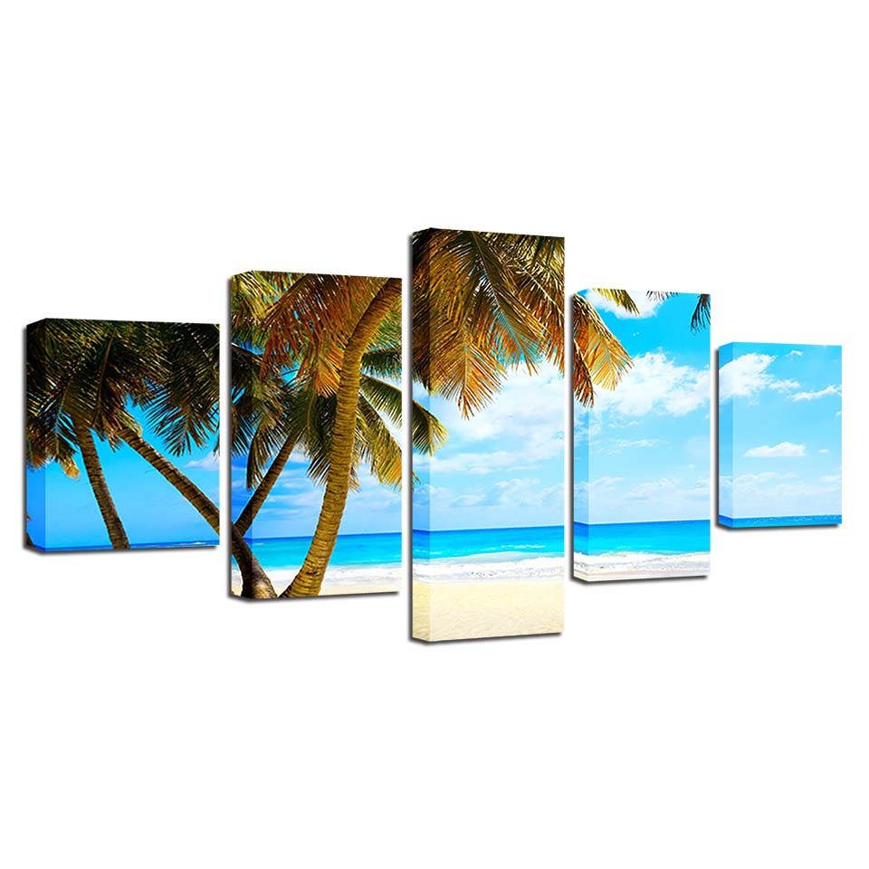 Home Decoration Canvas Painting HD Prints 5 Pieces Tree Wall Art Landscape Modular Pictures Bedside Background Artwork Poster in Painting Calligraphy from Home Garden