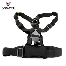 SnowHu Chest Strap mount belt for Gopro hero 7 6 5 4 3 2 1 Xiaomi yi 4K Action camera Chest Mount Harness for Go Pro SJCAM GP204 adjustable chest strap mount elastic body chest harness strap mount belt for gopro hero 4 3 2 xiaomi yi action camera gp240