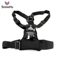 цена на SnowHu Chest Strap mount belt for Gopro hero 8 7 6 5 4 3 2 Xiaomi yi 4K Action camera Chest Mount Harness for Go Pro SJCAM GP204