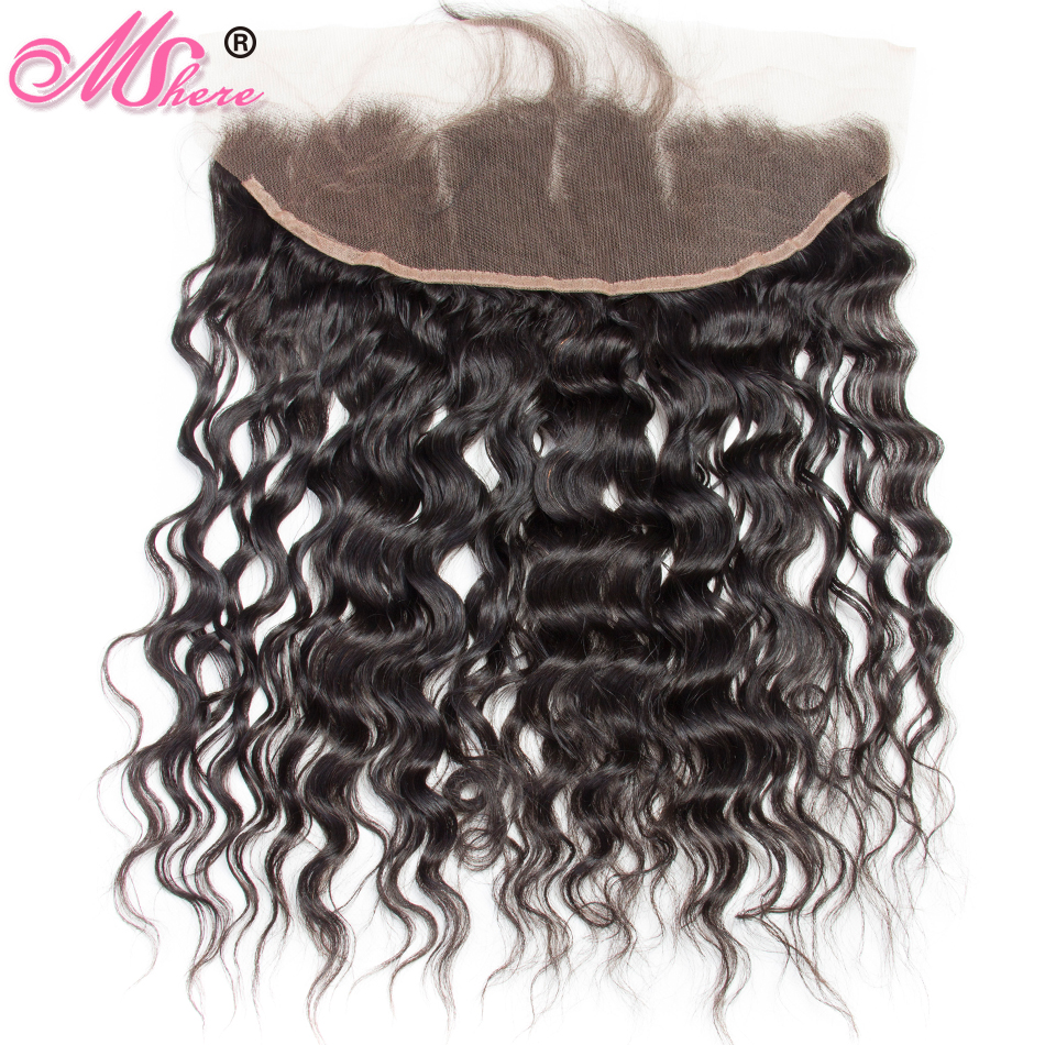 Pre plucked 13 4 Ear To Ear Lace Frontal With Baby Hair Brazilian Water Wave Remy