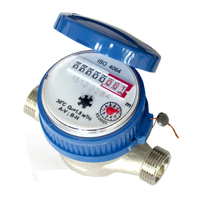 15mm 1/2 inch Cold Water Meter for Garden & Home Using with Free Fittings Using 360 Adjustable Rotary Counter #LO