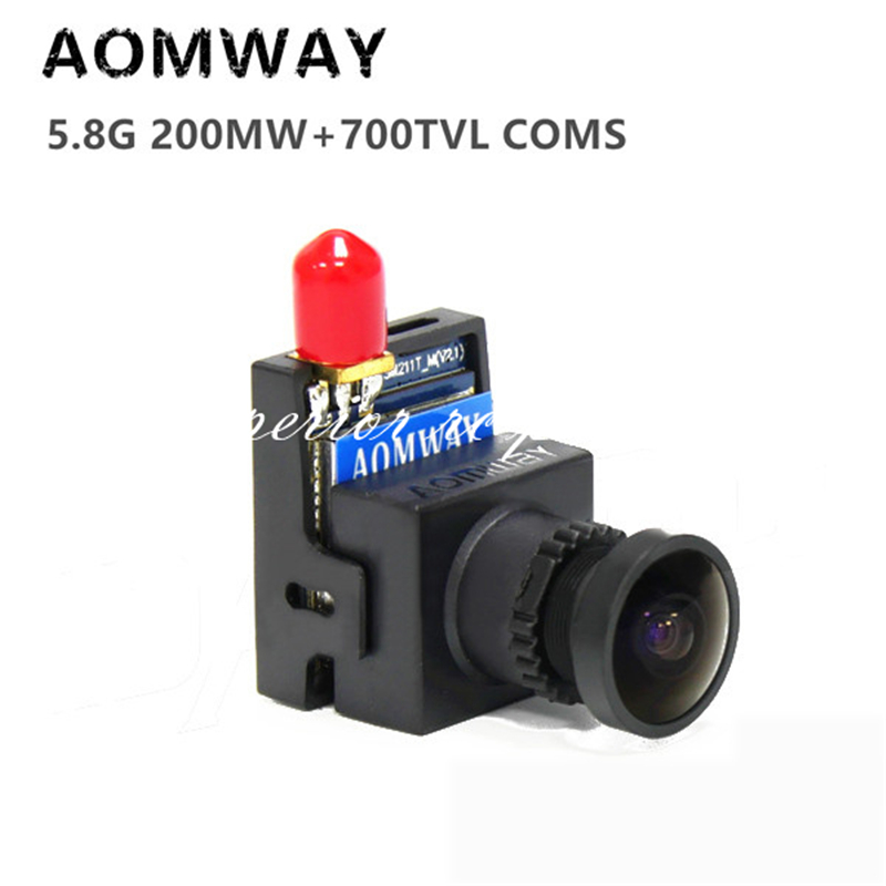 AOMWAY 5.8G 32CH 200mW FPV A/V Transmitter (VTX) + 700 line 700TVL HD Camera 2 in 1 for RC Quadcopter Multicopter ts5823 5 8g 200mw 32ch mini wireless transmitter for fpv black page 9