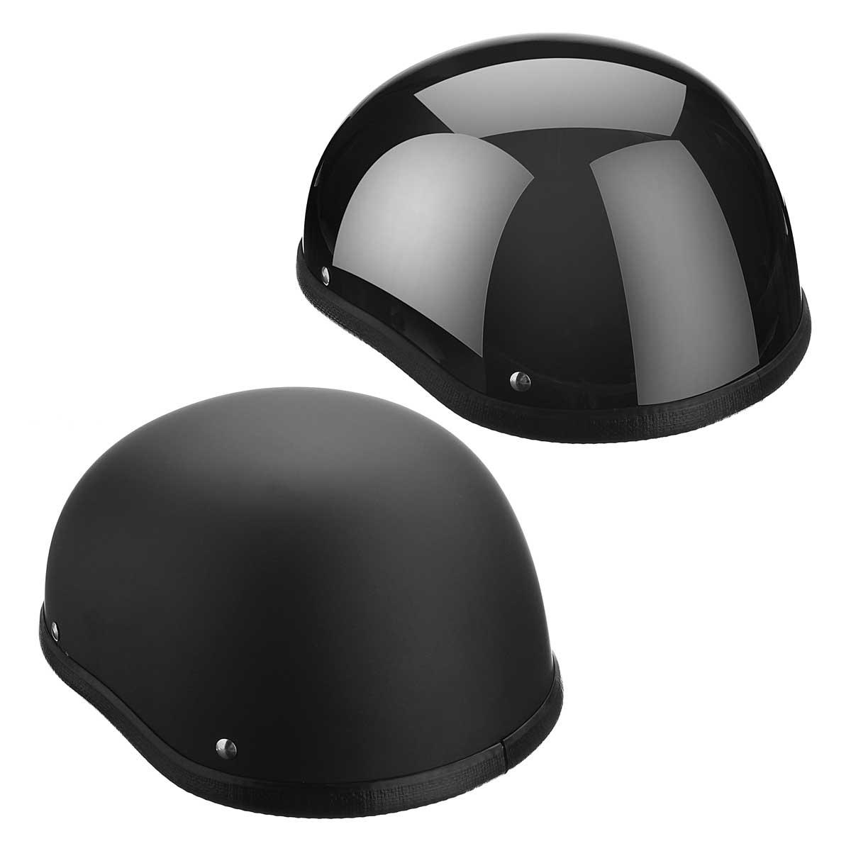 1 Stück Abs-kunststoff Motorrad Helm Motorcross Capacete Halb Helm für Harley Retro Matte Helle Schwarz