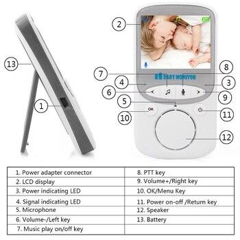 BabyKam 2.4GHz Wireless Baby Monitor VB601 Upgraded Infant Eletronic Babysitter Digital Baby Camera Temperature Display Monitor 8