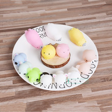 Mini Squeeze toys Pig Bear Squishy Mochi Animals slow rising Kawaii Soft Phone Strap Stretchy Adult Toy Fidget Hand Kids Gift(China)