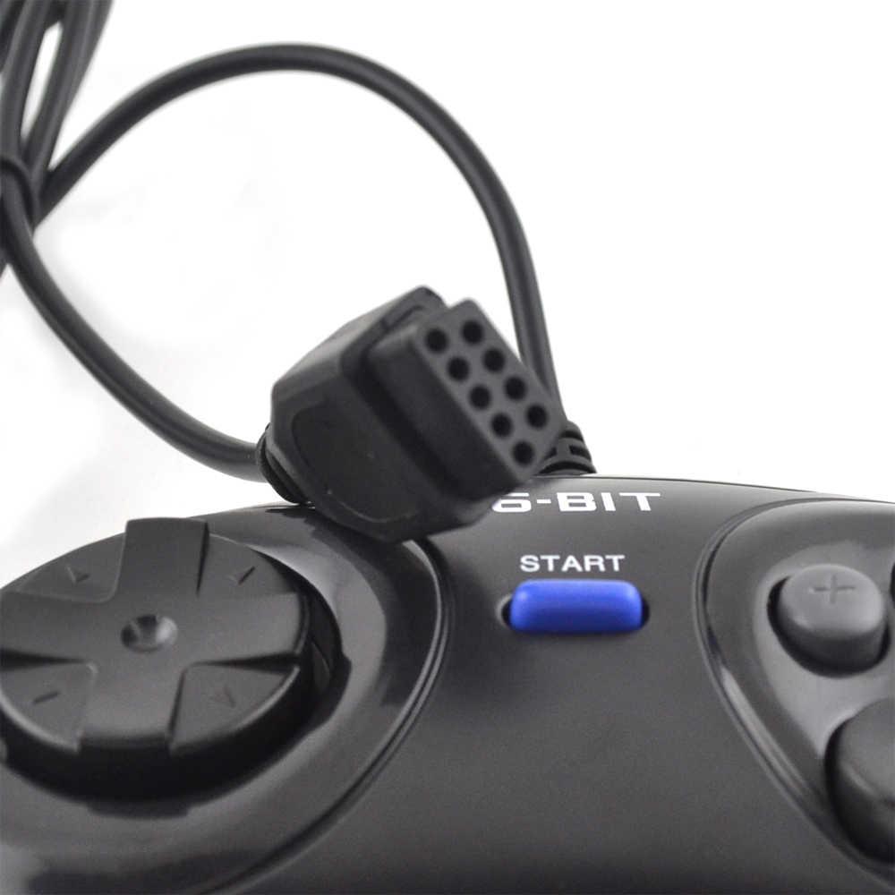 2 pz controller di Gioco per SEGA Genesis per 16 bit maniglia regolatore Tasto 6 Gamepad per SEGA MD Gioco Accessori