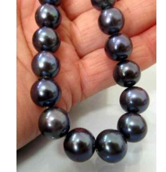 """Красивое Ожерелье из натурального черного жемчуга 18 """"36"""" 10-11 ММ TAHITIAN"""