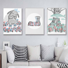 Nordic Fairytale Cartoon Abstract Fantasy Poster Wall Art Canvas Painting Home Picture Decoration