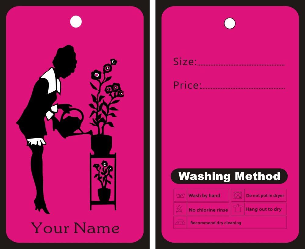 Us 38 64 8 Off Garment Hang Tags Custom Print Clothes Fashion Hand Make Price Label Can Be Your Logo On It Template 018 In