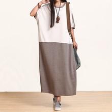 Высочайшее качество фирменных знаменитый арт tempermant дизайнер Дубай платье мода одежда Цвет Лоскутная осень с длинным maix хлопчатобумажное платье