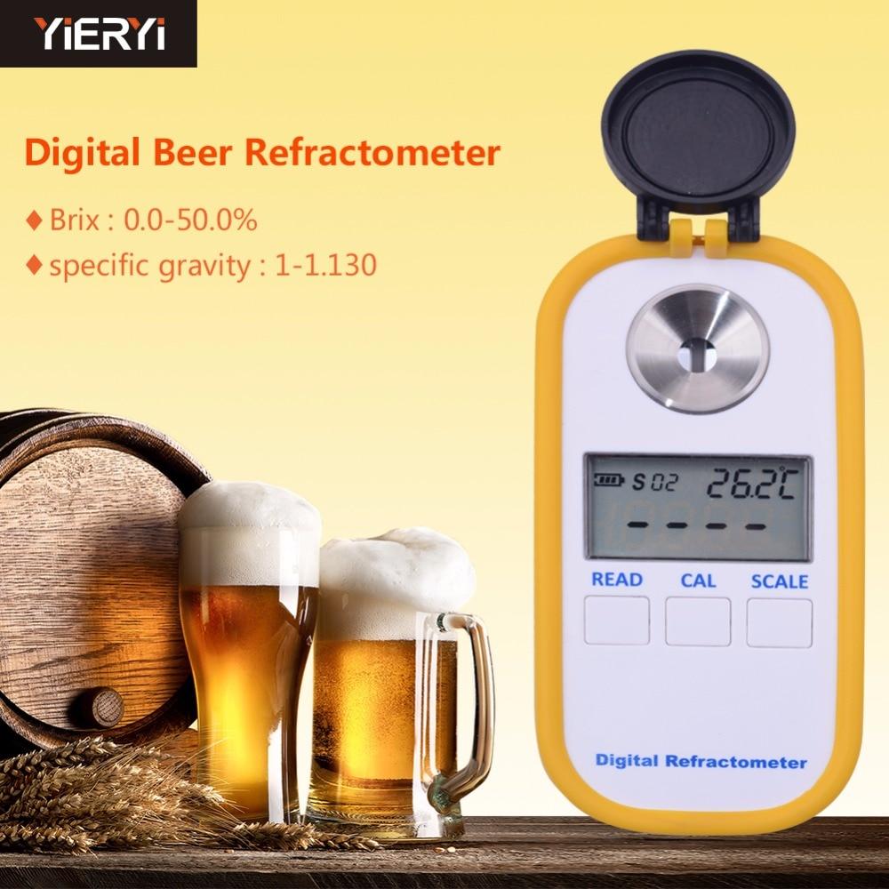 DR402 Beer Concentration Meter Hydrometer Handheld 0 50 Digital Beer Refractometer Refractive Index ATC Beer Measuring