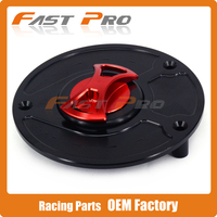 CNC Black Red Gas Fuel Tank Cap Cover For Honda RVF400 VFR400 RC51 SP1 SP2 VTR1000 CB600F Hornet 600 CB900F CBR250RR CBR400RR