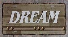 1 pc Dream Belgium Motivation bitcoin English Quotes Tin Plates Signs wall man cave Decoration Metal Art Vintage Poster