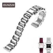 ISUNZUN is suitable for Tissot 1853 T02  T023 wave series  female strip L750850 14MM все цены