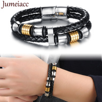 Jumeiacc 2017 The Latest Leather Woven Non Embroidered Men S Bracelets Europe And The United States