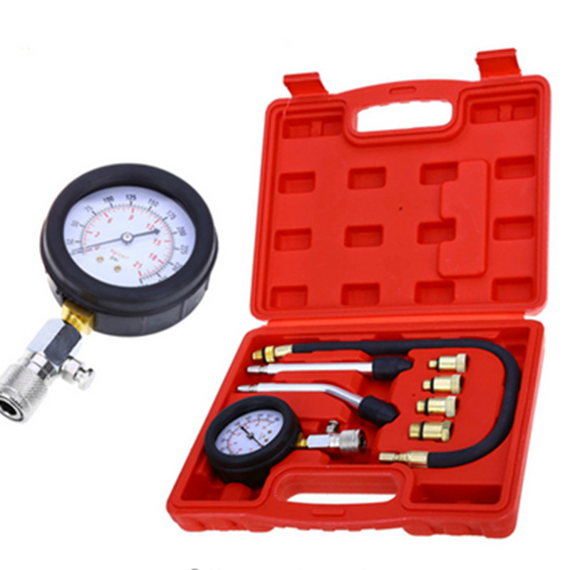 Car Diagnostic Tool New Rapid Type Pressure Gauge Tester Kit Motor Auto Petrol Gas Engine Cylinder Compression Gauge Tester Tool