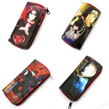 Anime NARUTO long style PU wallet printed with Uchiha Itachi/Sasuke/Naruto w/zipper