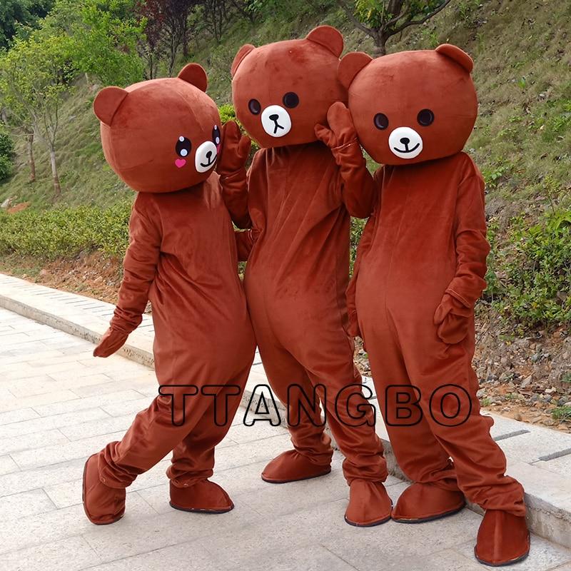 New High quality rilakkuma mascot teddy bear anime cosplay mascot costume free shipping