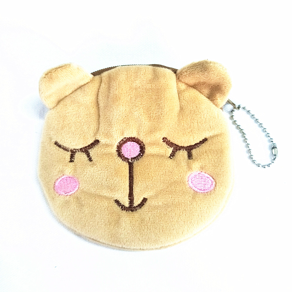M177 Cute Cartoon Image Beautiful Smile Bear Plush Wallet Casual Creative Coin Bag Purse Cloth Girl Women Student Gift Wholesale m705 2018 cute cartoon women cloth bag fashion coin purses creative alpaca design handbag student girl women gift wholesale