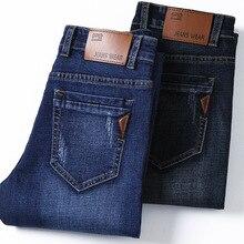 Высококачественные Темно-Синие рваные джинсы с принтом, Мужские Оригинальные брендовые джинсы, мужские джинсовые брюки, мужские мото-байкерские джинсы