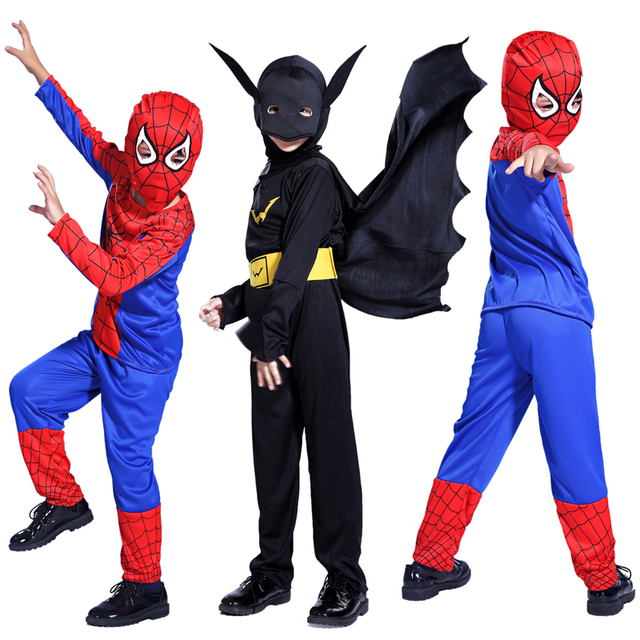 free shipping party supplies spiderman halloween costume for kids children christmas costume wh0010 wholesale