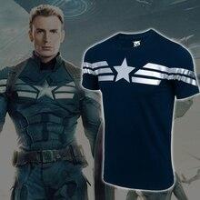 2016 captain America t shirts Avengers Marvel männlichen kurzarm-t-shirt männer cosplay anime t-shirts S-4XL