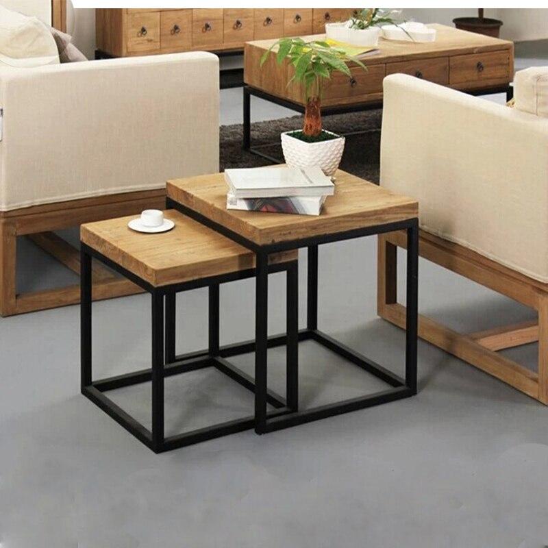 Coffee Table Minimalist Retro: Wrought Iron Nightstand Minimalist American Country