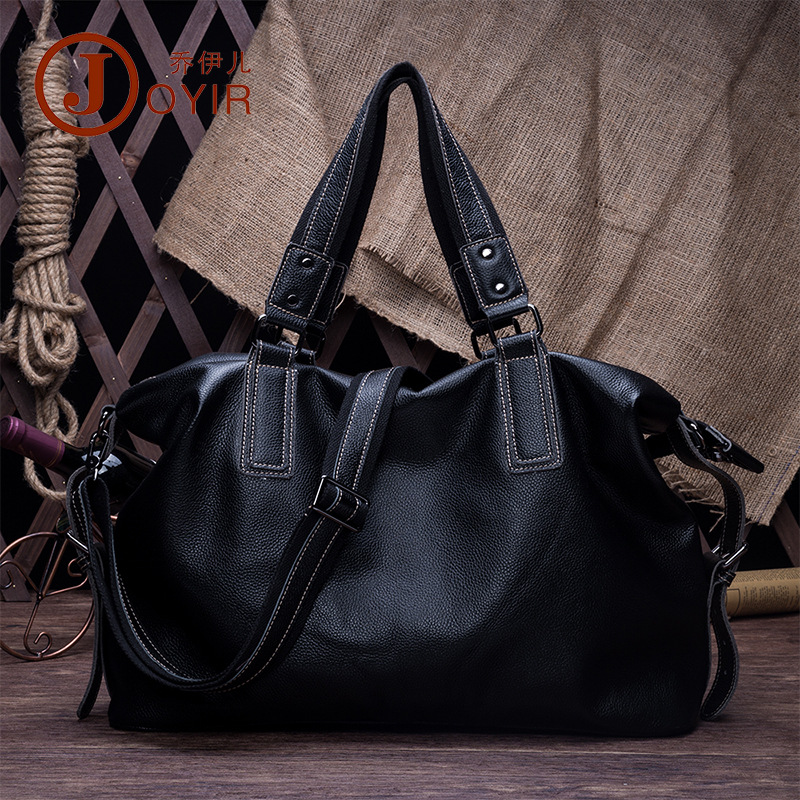 JOYIR Men Casual Handbag First Layer Cowhide Leather Messenger Crossbody litchi grain Bags Shoulder Bag Men