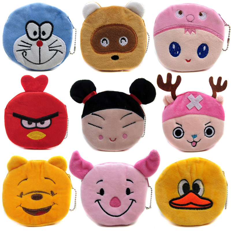 Hot Sale Cartoon Coin Purses Children Plush Mini Bags Female Coin Bag Women Zipper Character Wallets 2017 hot sale character mini wallets kids plush bag women cartoon coin purses ladies zipper pouch
