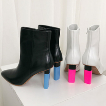 Novas Botas designer de Tornozelo para As Mulheres botines mujer Mais Leve Inspirado Saltos Altos de couro genuíno curto botas curtas tenis feminino