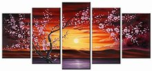 Modern flowers painting 5piece large canvas print wall art modular painting on decoration oil paint decorative pictures
